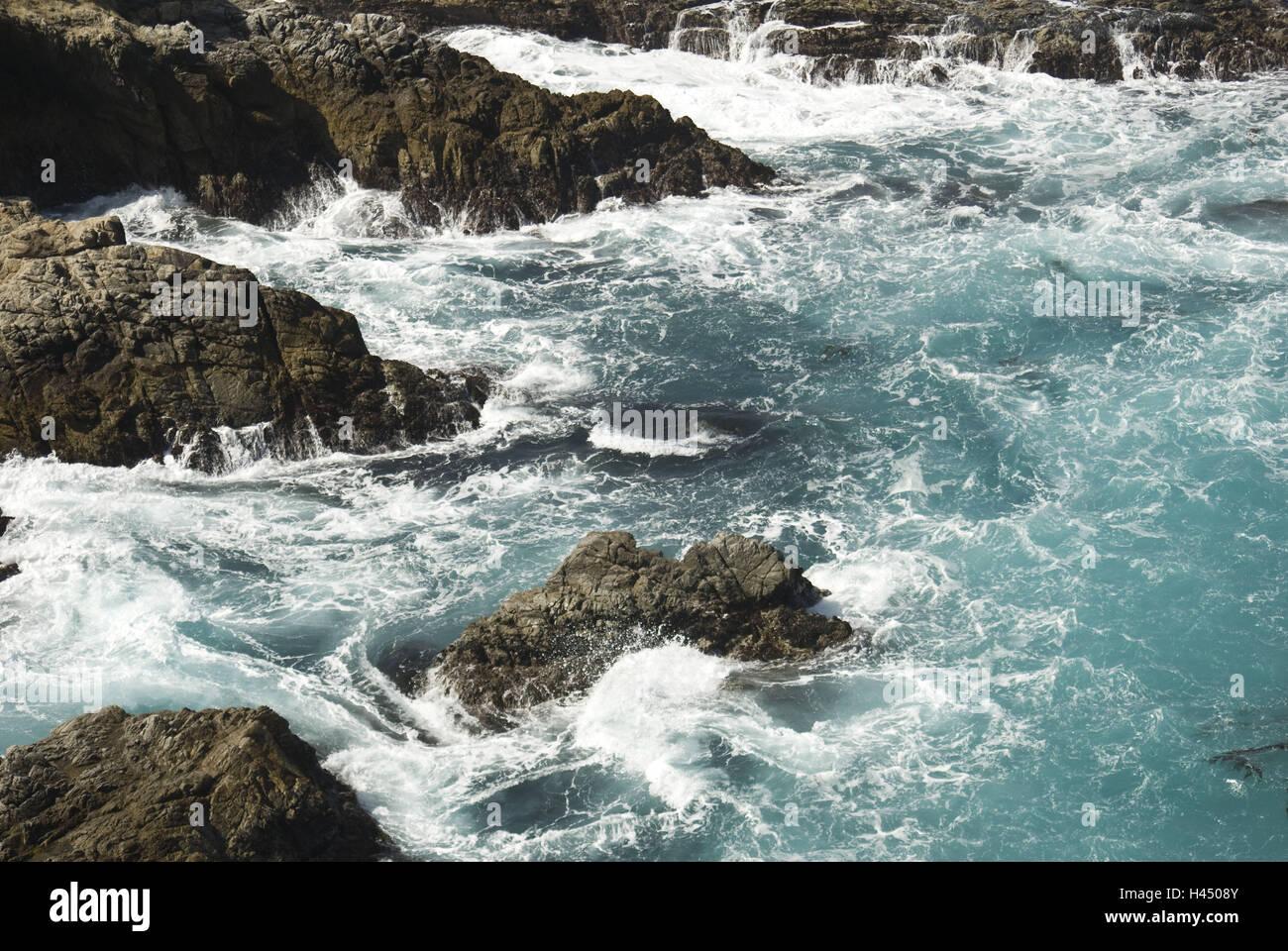 Los EE.UU., California, Carmel, párrafo costeros, en el Pacífico, Foto de stock
