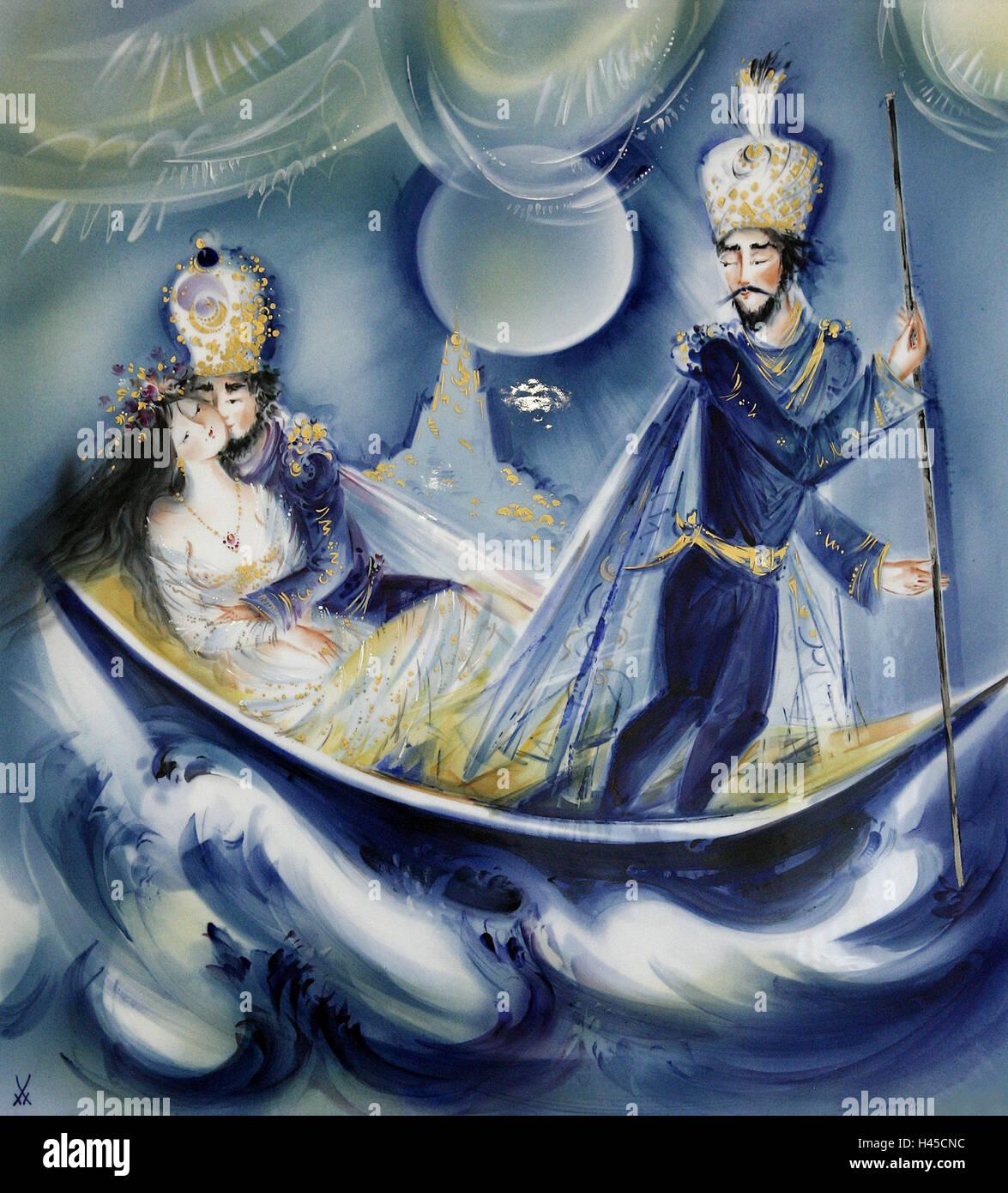 Alemania, Sajonia, porcelana de Meissen, la fabricación de porcelana, sala de exposición, fotografía, Imagen De Stock