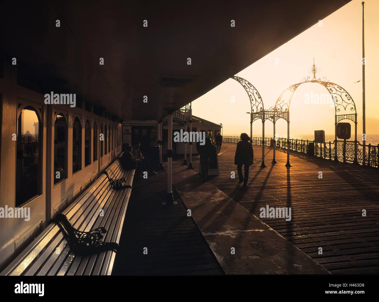 Brighton Pier. East Sussex, Inglaterra en el Reino Unido. Imagen De Stock