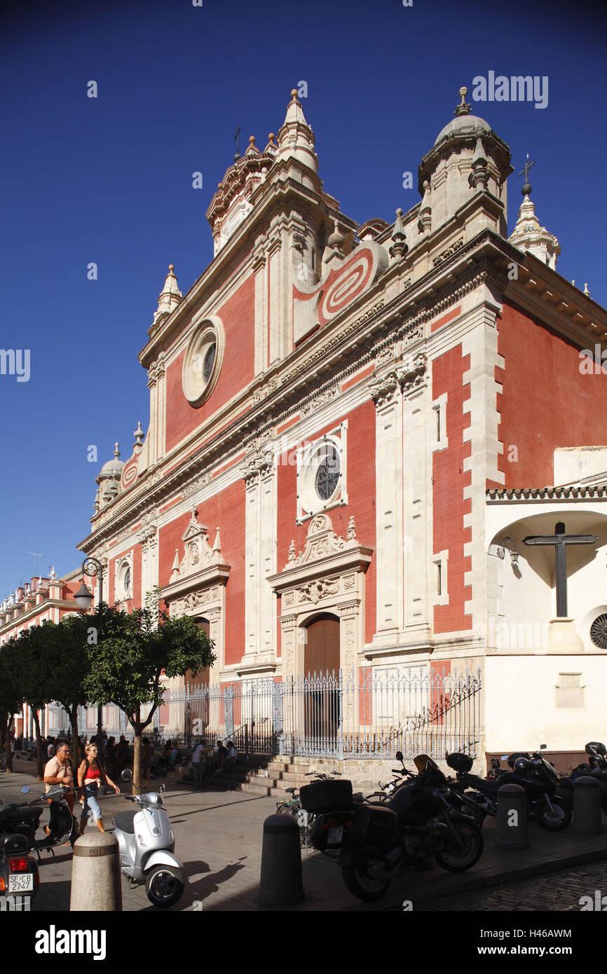 España, Andalucía, Sevilla, Iglesia Colegial del Divino Salvador en la plaza del Salvador, Imagen De Stock