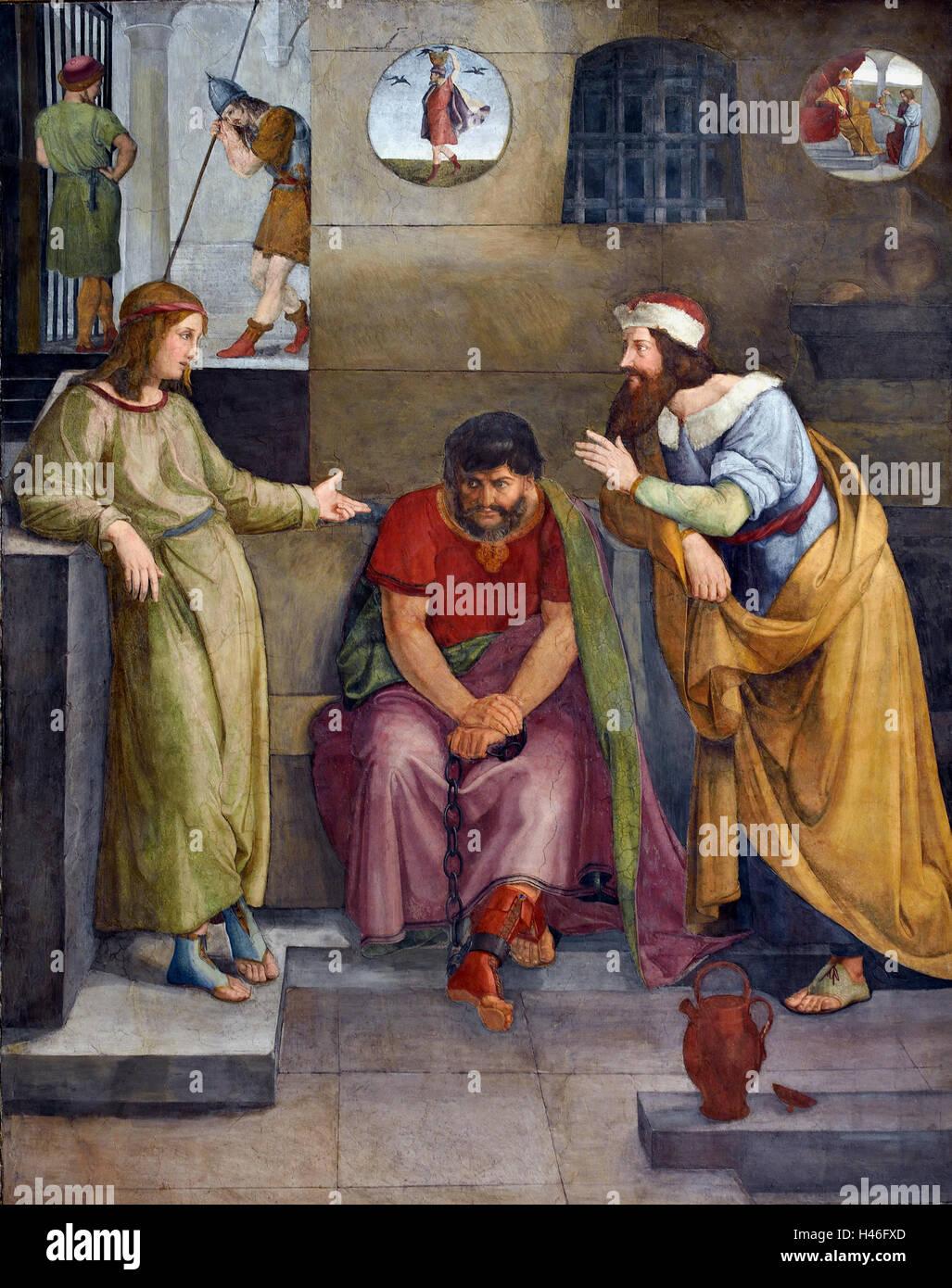 Wilhelm Schadow 1788 - 1862 José interpretando los sueños en prisión 1817 ALEMÁN Alemania Foto de stock