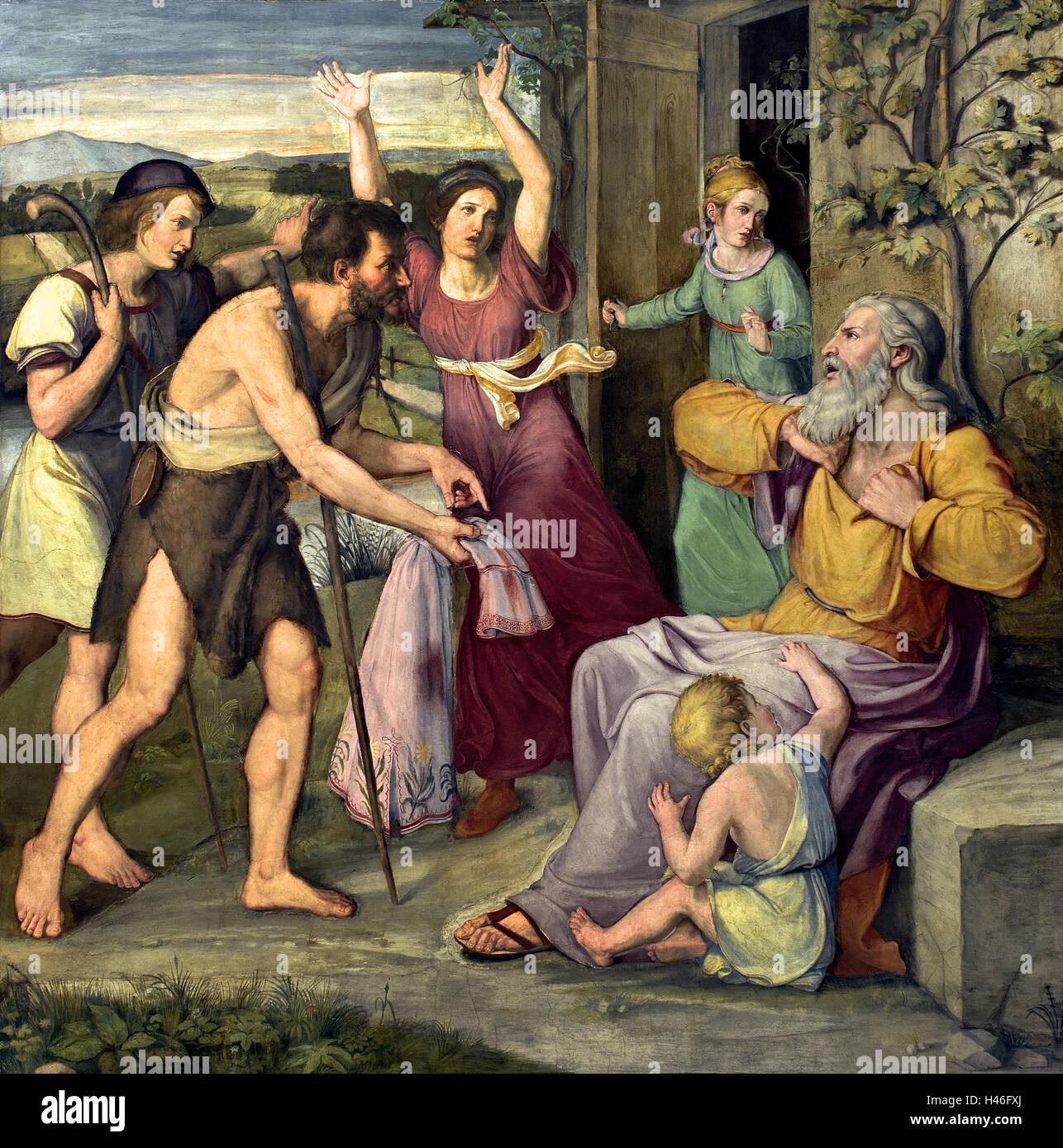"""Wilhelm Schadow, 'Jakobs Klage"""", 1816/17 alemán Alemania ( Presentación de la sangrienta cubra a Jacob ) Foto de stock"""