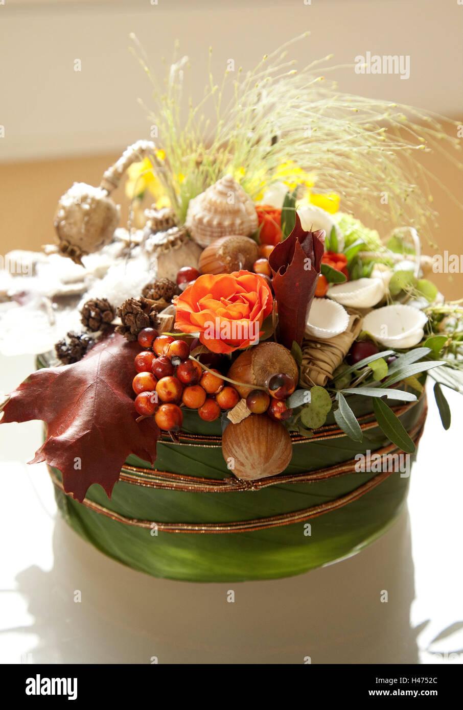 El Canasto Arreglo Floral Mejillones Decoracion Interior - Flores-interior