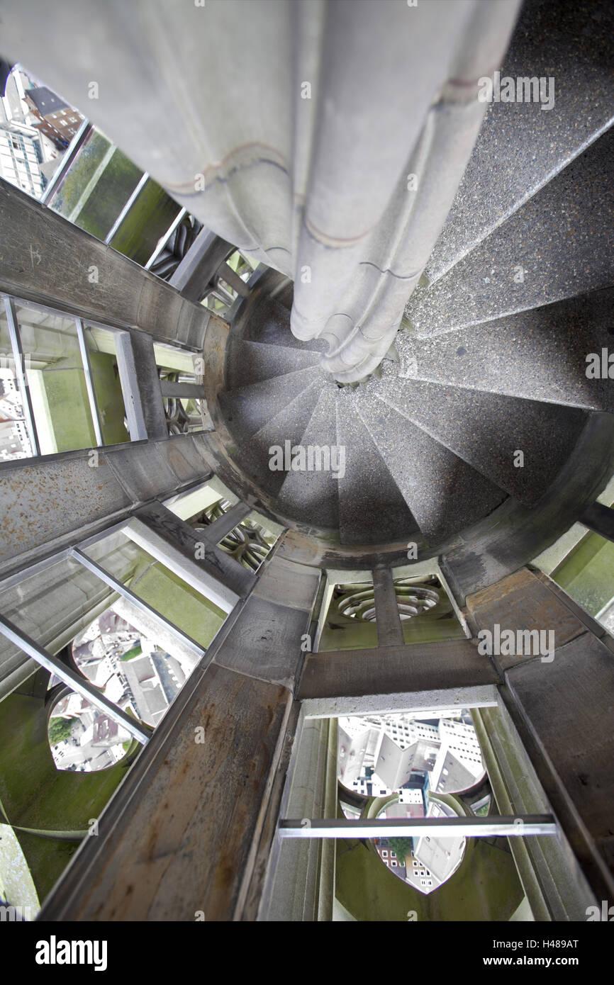 Alemania, Baden-Württemberg, Ulm, Ulm Minster, superior de la escalera, Foto de stock