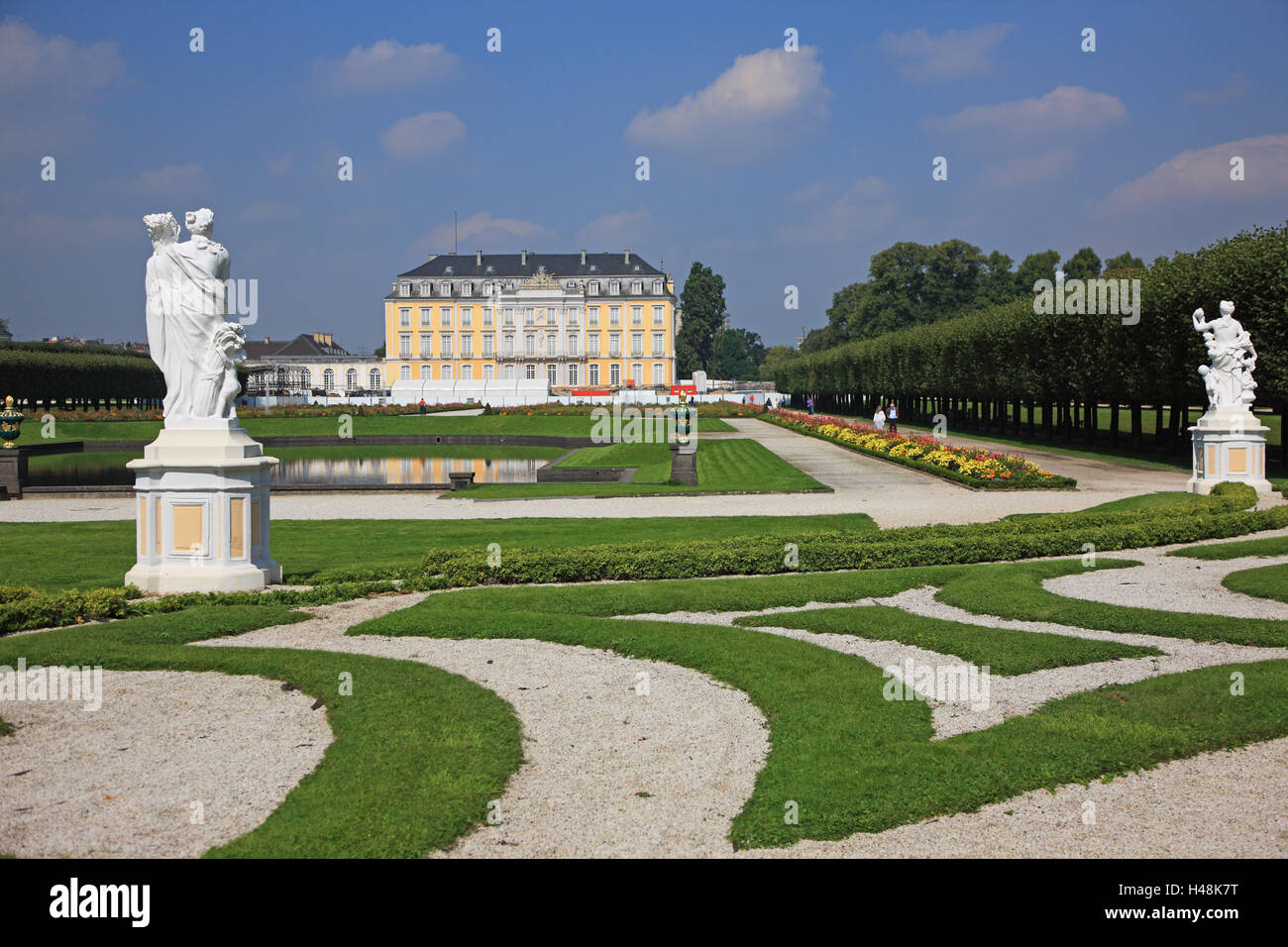 Alemania, en Renania del Norte-Westfalia, Brühl, Augustusburg (castillo), patrimonio mundial de la UNESCO, Foto de stock