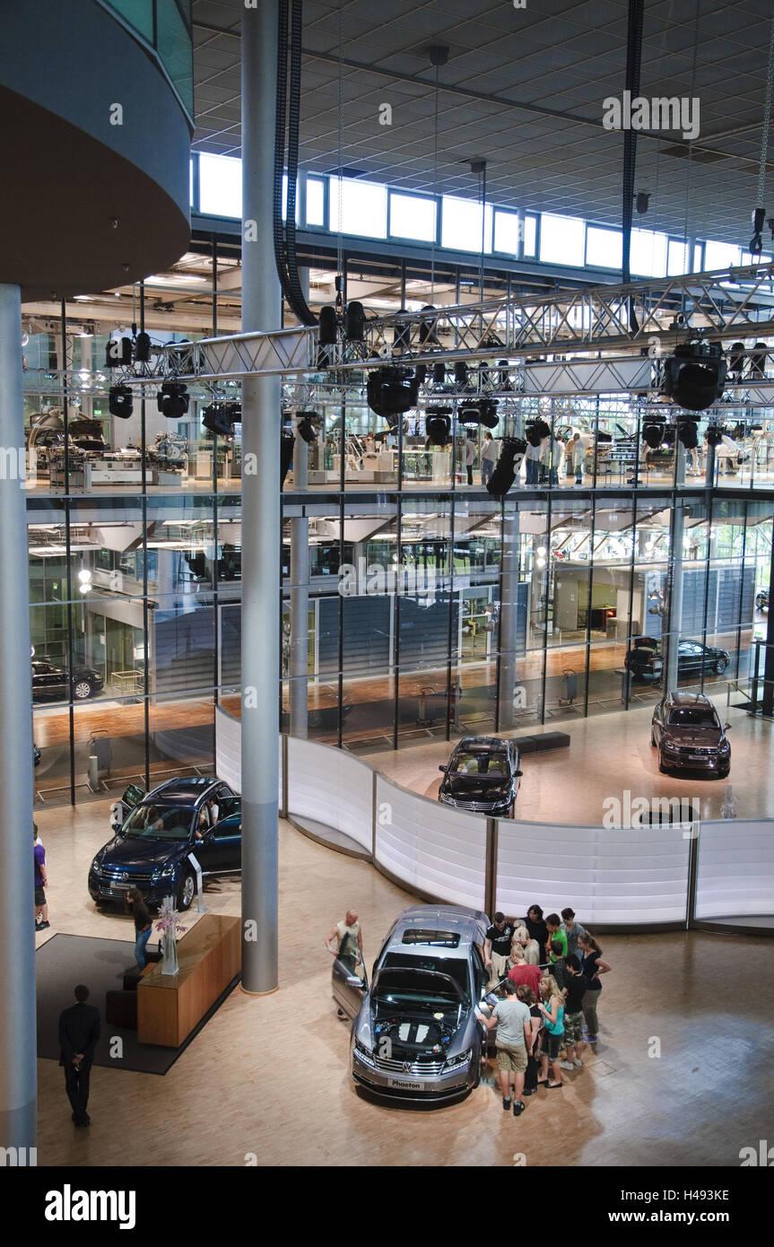Fabricación de VW, sala de exposiciones, Dresde, Sajonia, Alemania Imagen De Stock