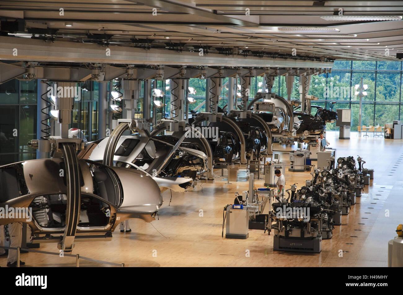 VW la fabricación, la producción de vehículos, Dresde, Sajonia, Alemania Imagen De Stock