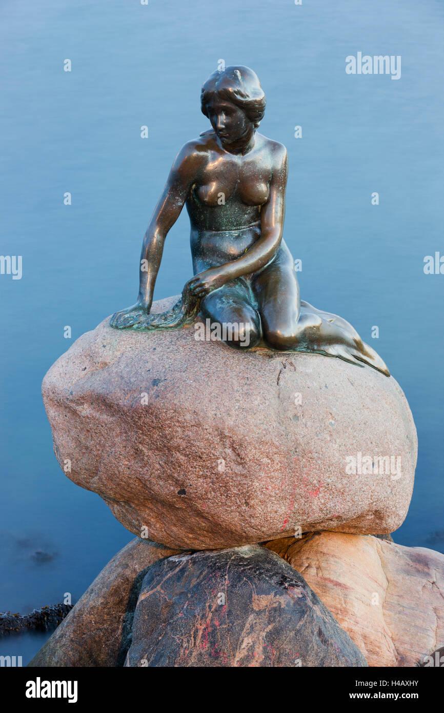 Lille Havfrue, la Sirenita de Copenhague, Dinamarca Imagen De Stock