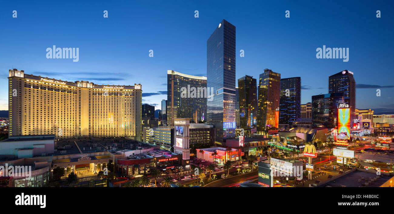 Centro de la ciudad, Veer Towers, Aria Resort, Tira, South Las Vegas Boulevard, Las Vegas, Nevada, EE.UU. Imagen De Stock