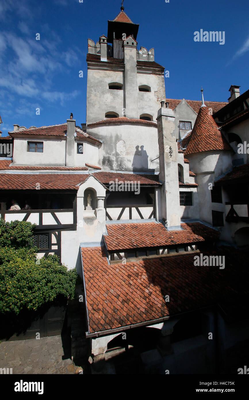 Castillo Bran, Bran Schloss (dt. Törzburg, ung. Törcsvár), Transsilvanien, Rumänien, Transilvania, Rumania Foto de stock