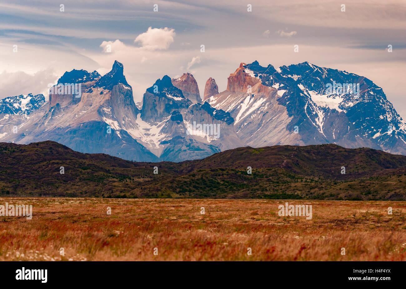 Parque nacional Torres del Paine, Magallanes, Chile. Parque Nacional Torres del Paine Imagen De Stock