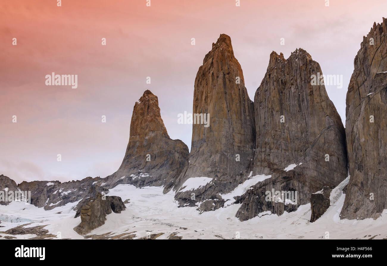 Parque nacional Torres del Paine, Magallanes, Chile. Parque Nacional Torres del Paine Foto de stock