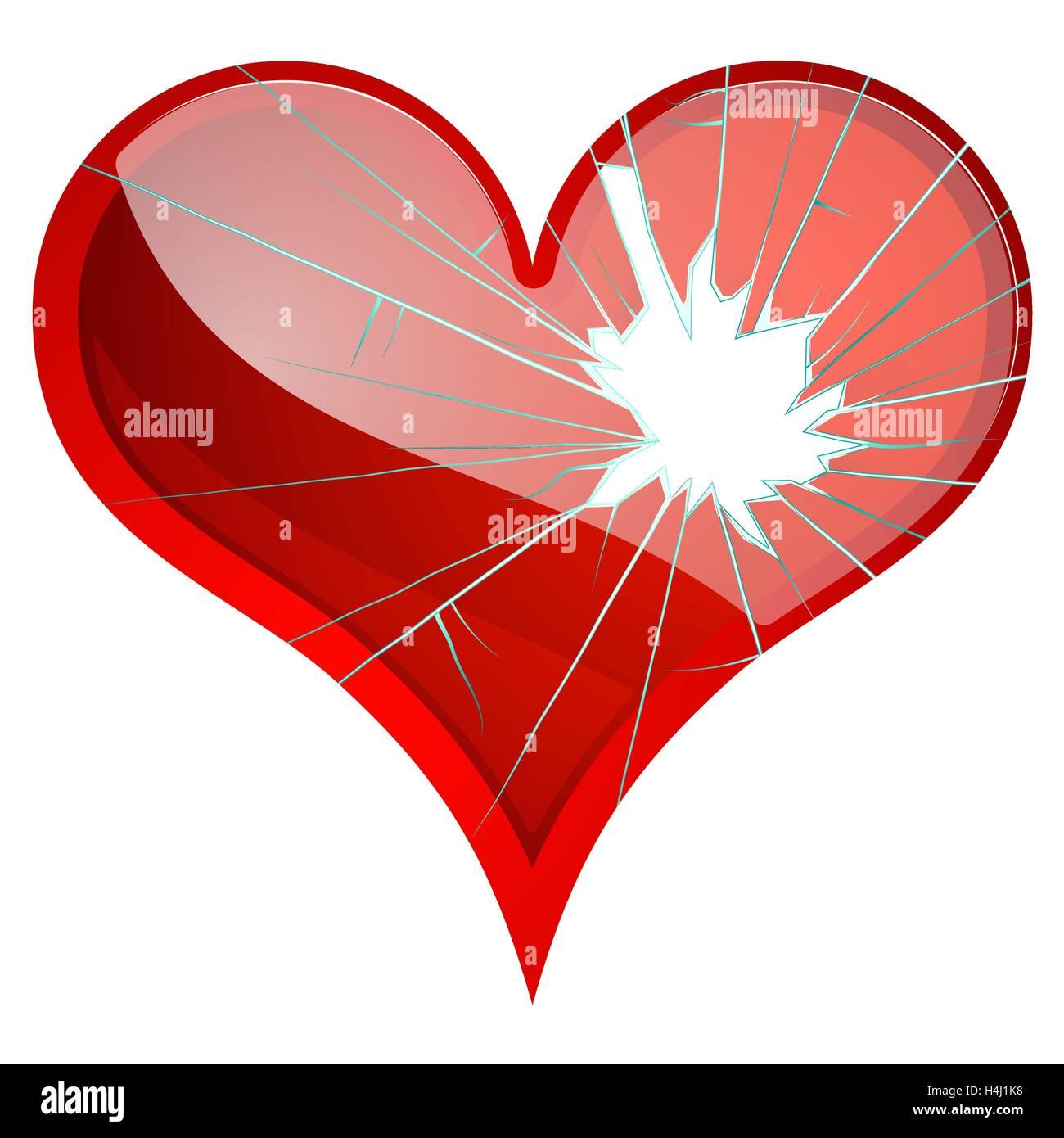 Corazones Rotos. Disgusto, tristeza, destrozado, ruptura, ruptura de temas  Imagen Vector de stock - Alamy