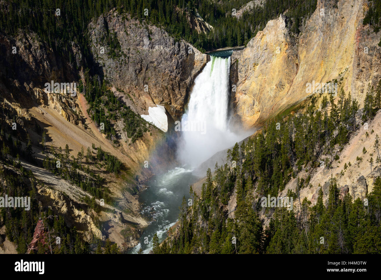 El Parque Nacional de Yellowstone. Foto de stock