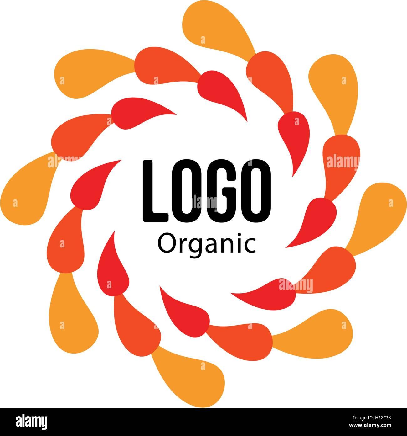 Resumen aislados de forma redonda color rojo y logotipo en color ...