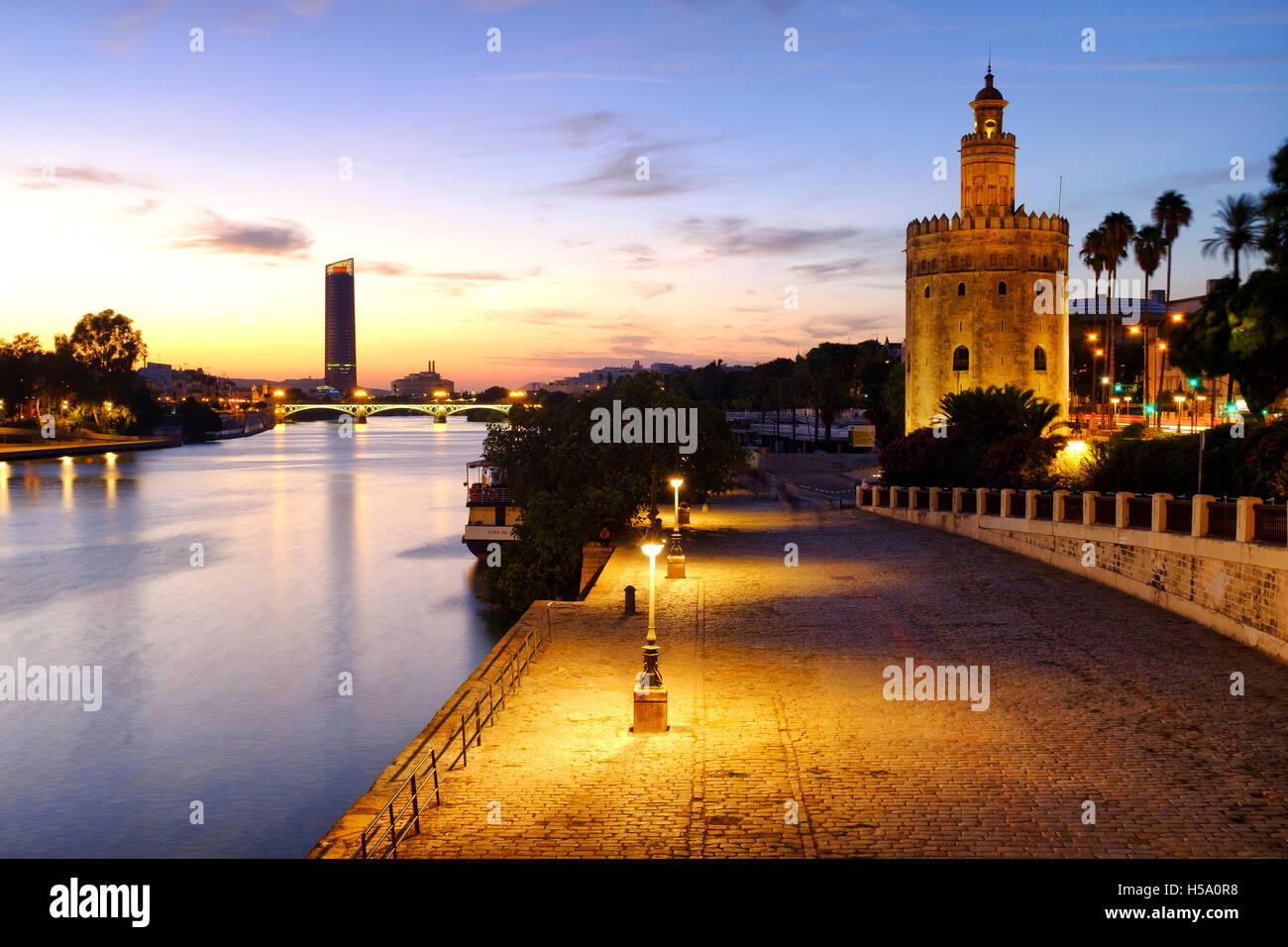 Torre del Oro, Sevilla, España Imagen De Stock