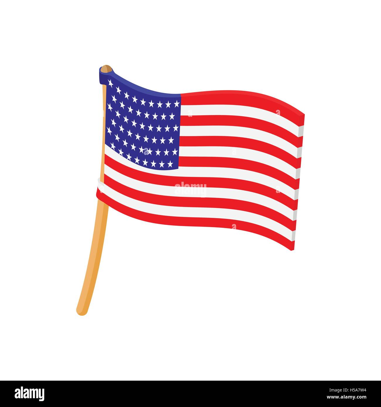Icono De La Bandera De Estados Unidos En El Estilo De Dibujos