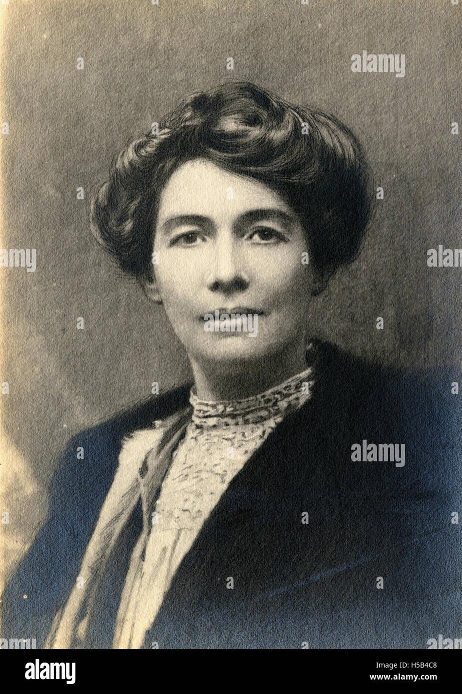 Emmeline Pethick Lawrence, c.1910. Foto de stock