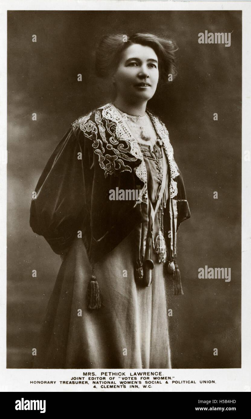 Emmeline Pethick Lawrence, c.1908. Foto de stock