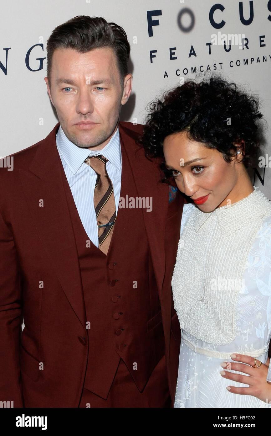 Beverly Hills, CA. 20 Oct, 2016. Joel Edgerton, Ruth Negga en la terminal de llegadas de amar a Premiere, Samuel Imagen De Stock