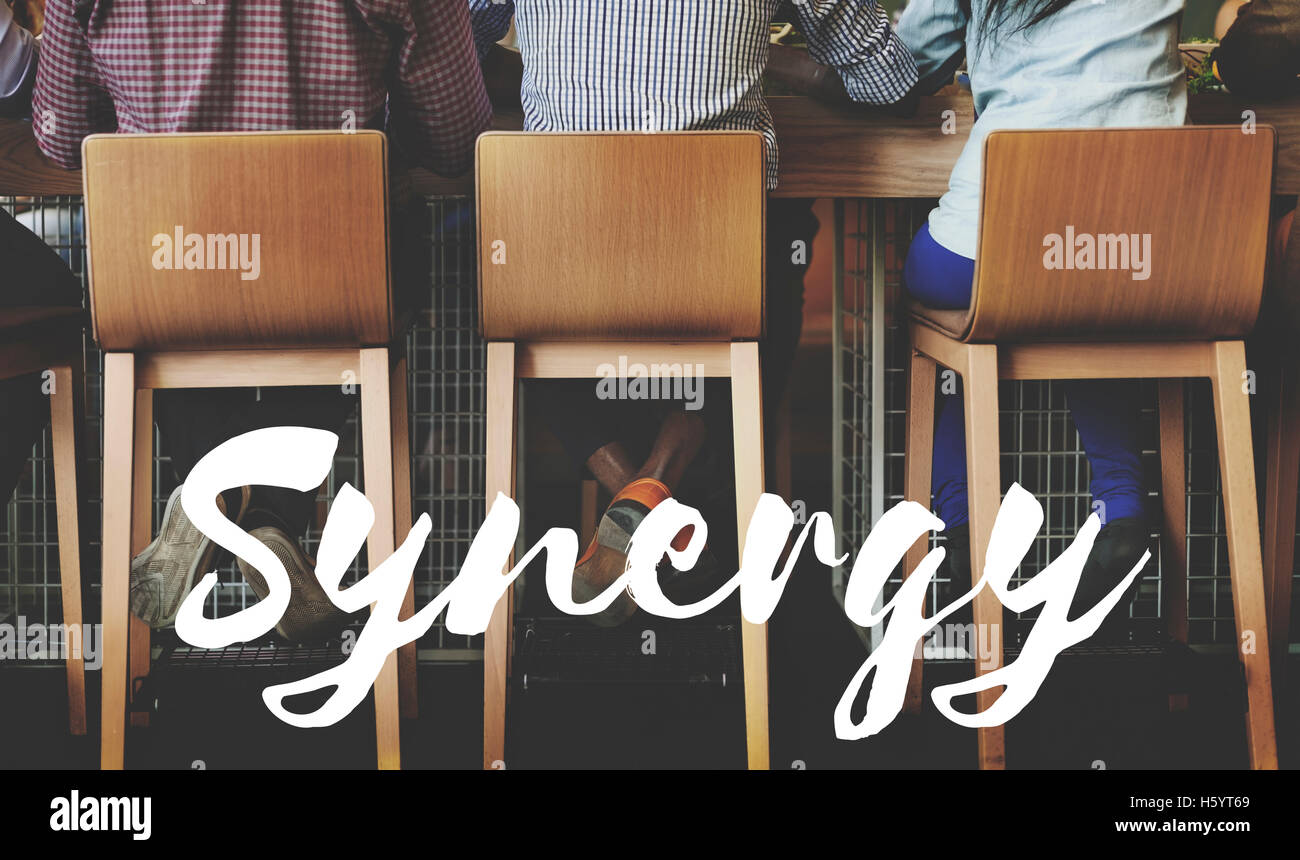 Synergy Corporation interacción sinergismo concepto Imagen De Stock
