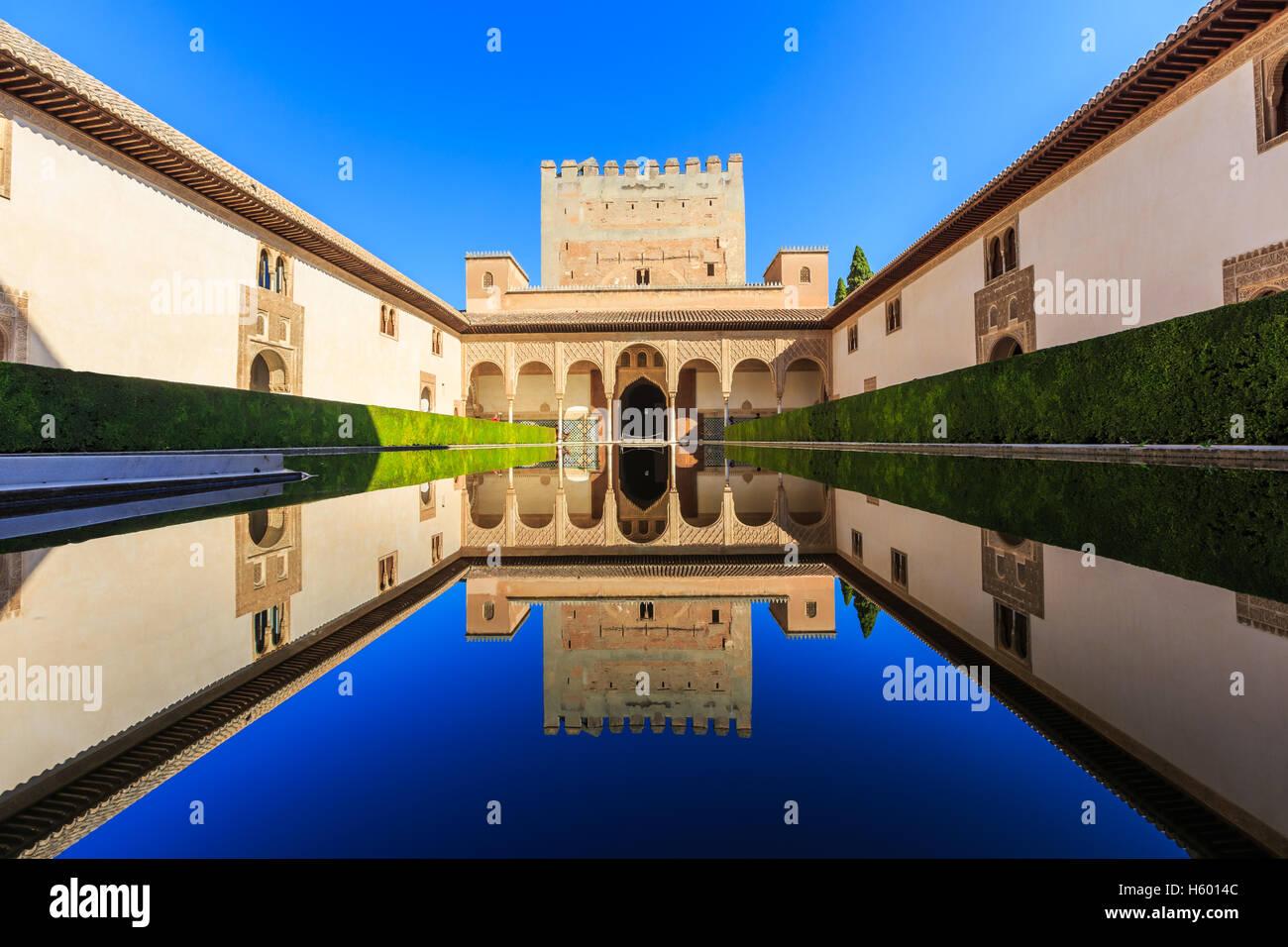 Alhambra de Granada, España. Imagen De Stock