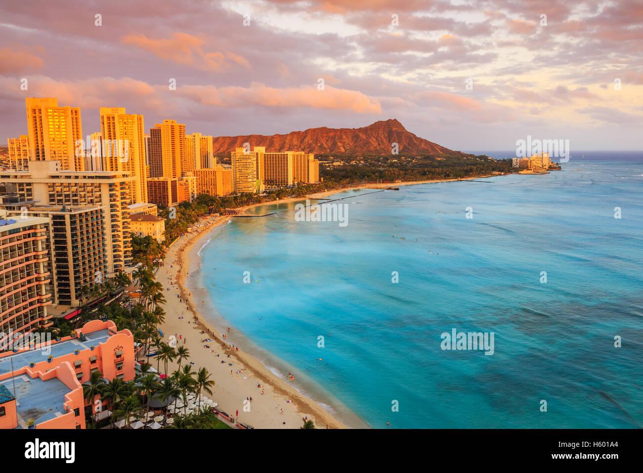 Honolulu, Hawai. Foto de stock