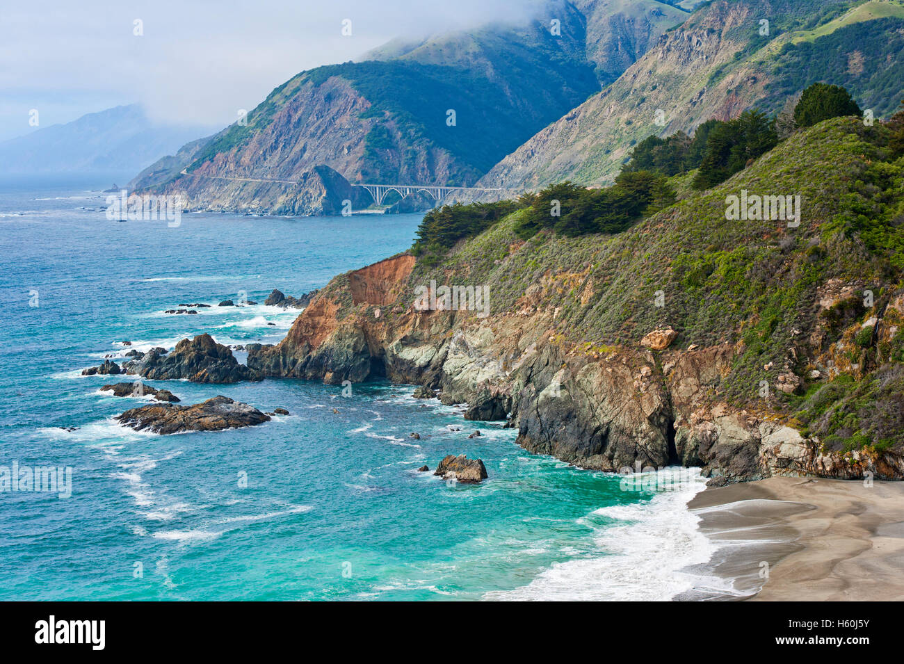 Big Sur de California Foto de stock