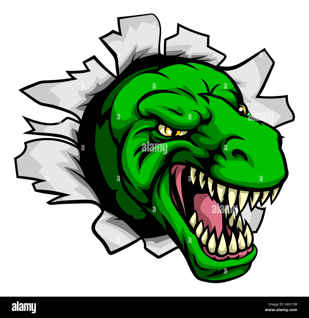 Dibujos Animados Dinosaurios Tyrannosaurus Rex T Rasga A Través Del