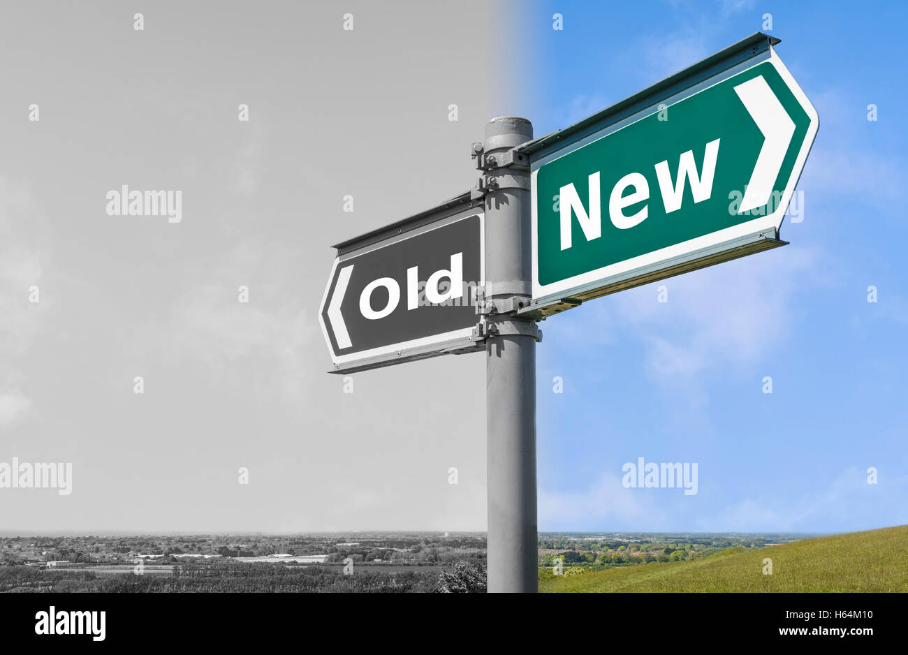 Concepto antiguo o el nuevo signo. Imagen De Stock