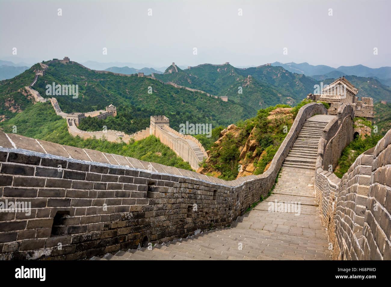 La Gran Muralla de China, Beijing Imagen De Stock