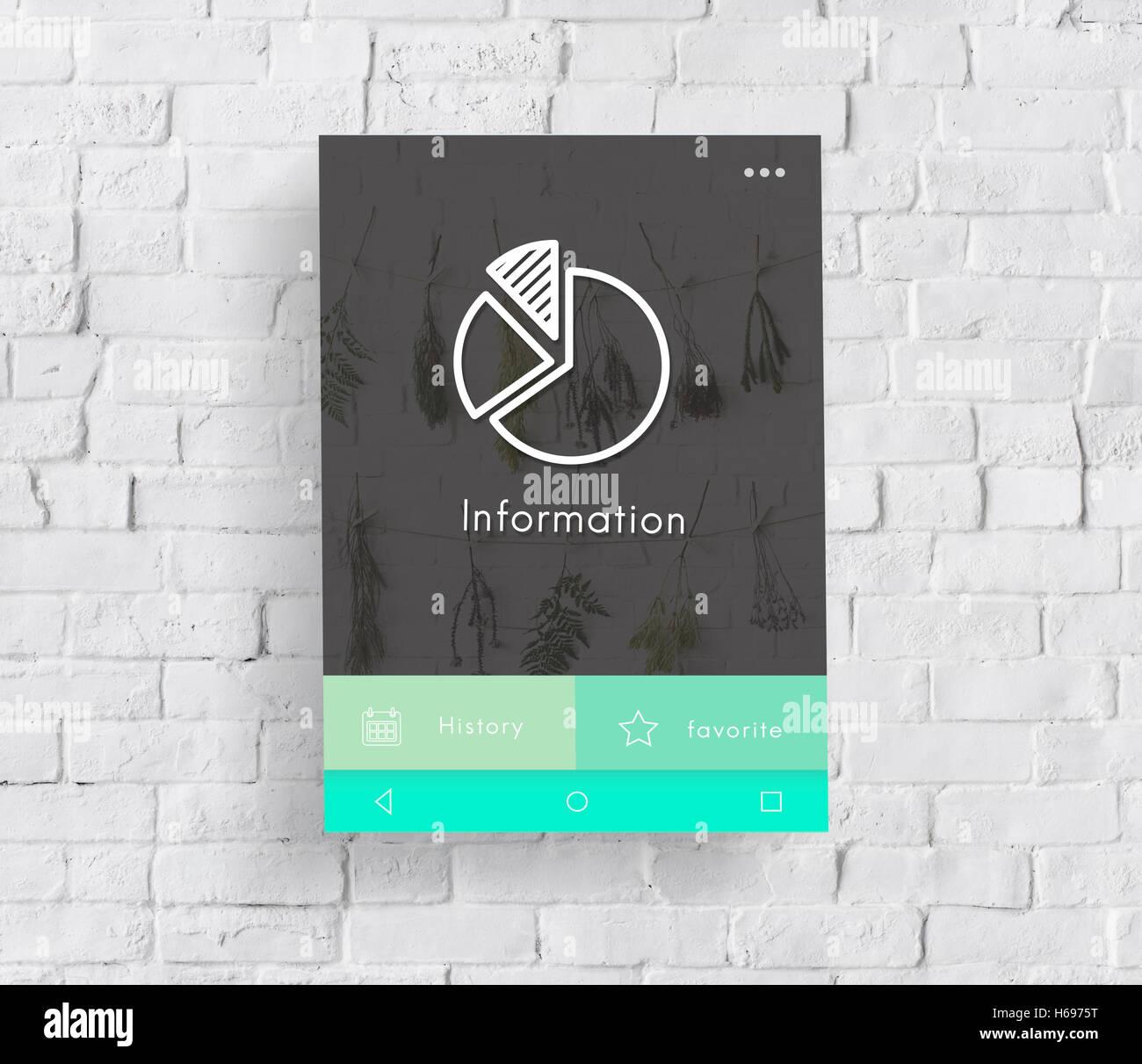 Información de detalles de datos Concepto de contenido Imagen De Stock