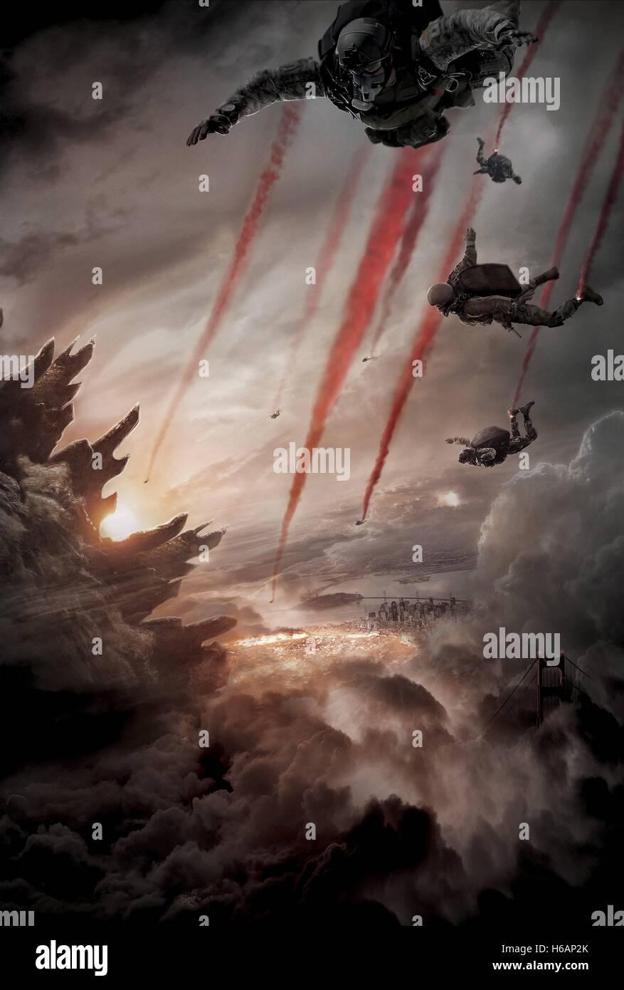 SKYDIVERS Godzilla (2014) Imagen De Stock
