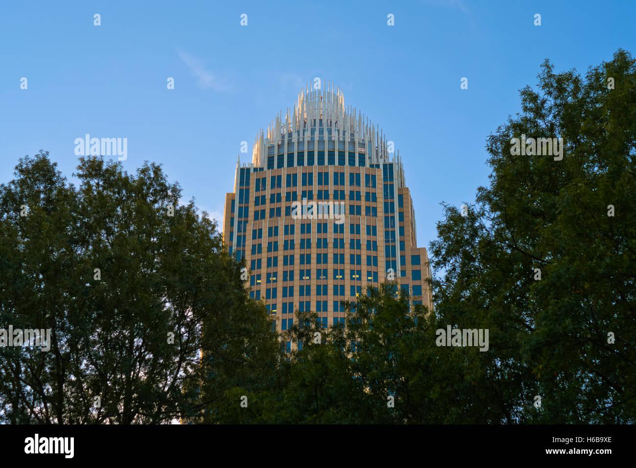 Arquitectura, Edificios de la ciudad de Charlotte, NC Imagen De Stock