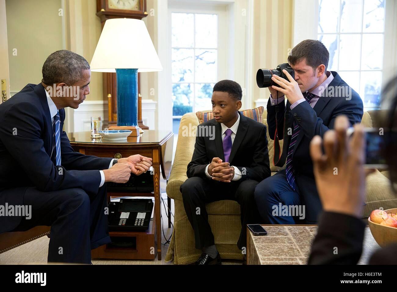 Los seres humanos de Nueva York fundador Brandon Stanton fotografías el presidente estadounidense Barack Obama Imagen De Stock
