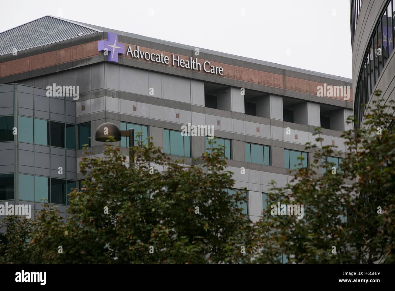 Un logotipo firmar fuera de la sede de defender la salud en Downers Grove, Illinois el 15 de octubre de 2016. Imagen De Stock