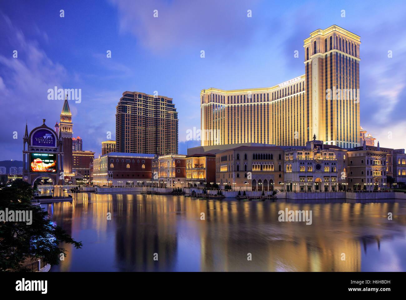 El Venetian Hotel y Casino, Cotai, Macao Imagen De Stock