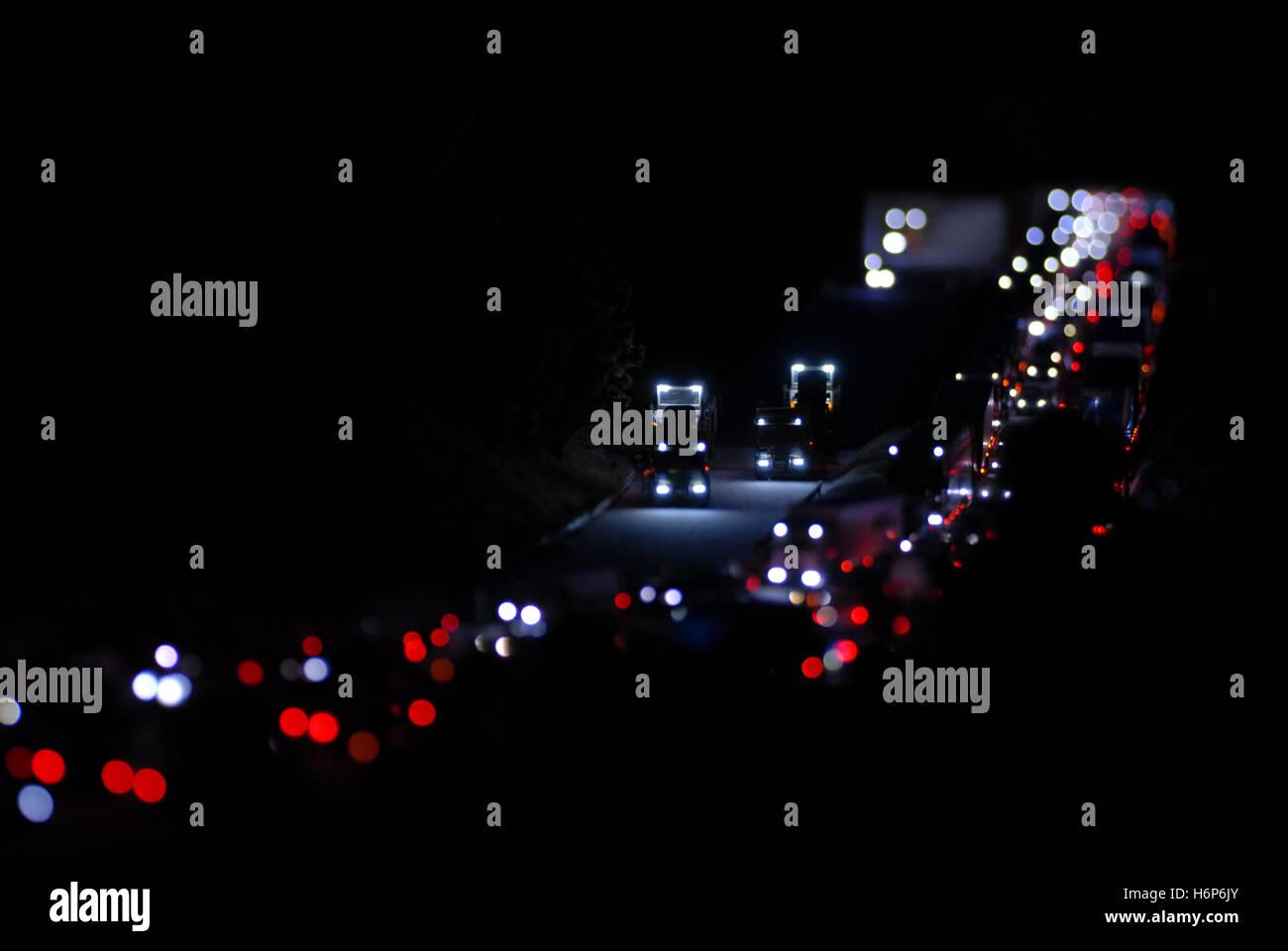 tráfico de la calle Imagen De Stock