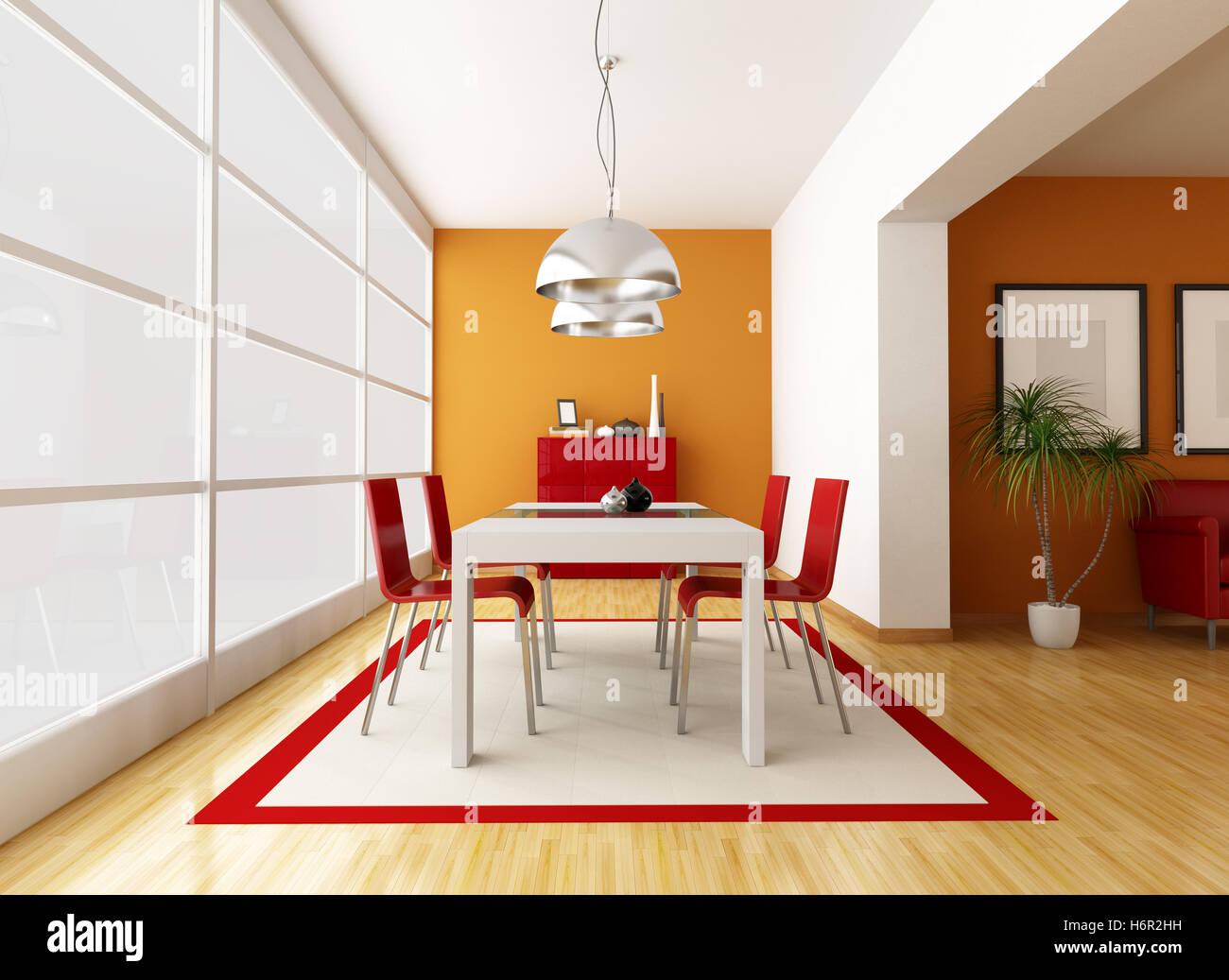 El mobiliario del comedor interior casa hogar silla mesa Cristal de construcción cáliz secadora detalle Imagen De Stock