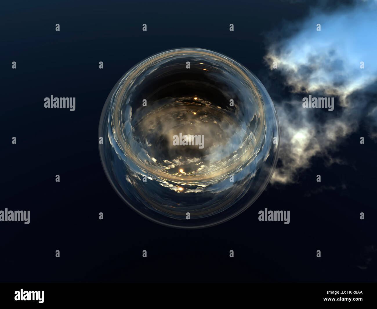 La astrología futura fortunetelling adivinación videncia gráfico pictográfico conspicuo bola Imagen De Stock