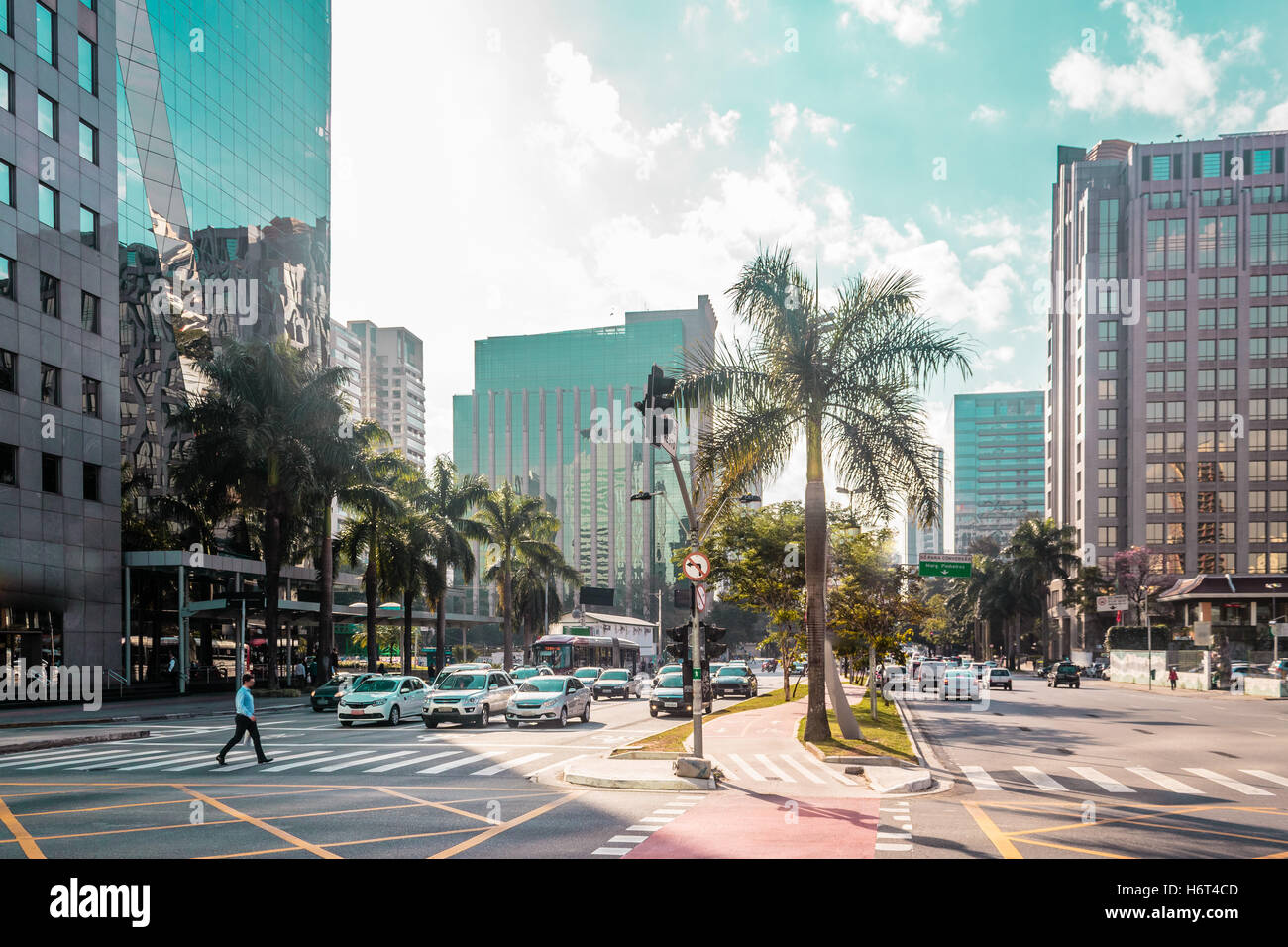 Foto de los edificios y las calles de Sao Paulo, Brasil (Brasil) Imagen De Stock