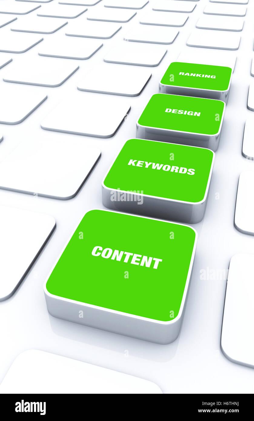 Almohadillas de 3d verde - keywords diseño 8 Clasificación de contenido Imagen De Stock