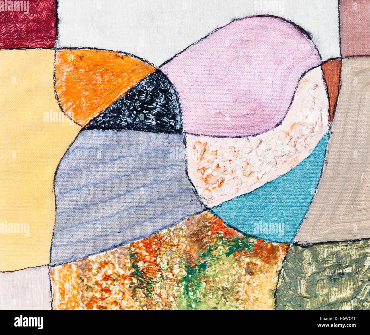 El Arte Gráfico De Color Pintura Arlequín Ornamento Cuadrado De
