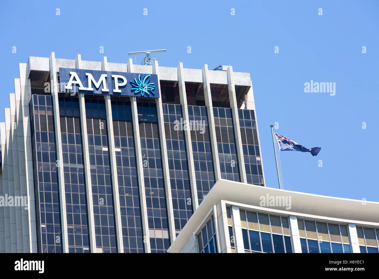 AMP es una empresa de servicios financieros en Australia y Nueva Zelanda, con la jubilación y productos de inversión, Foto de stock