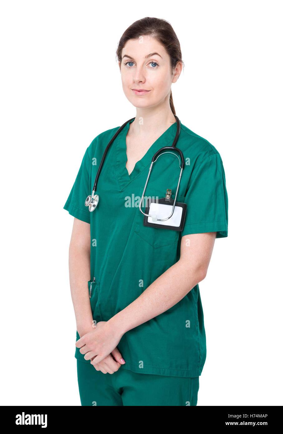 Doctor médico medic medical practicioner mujer los seres humanos seres humanos personas personas folk derechos Imagen De Stock