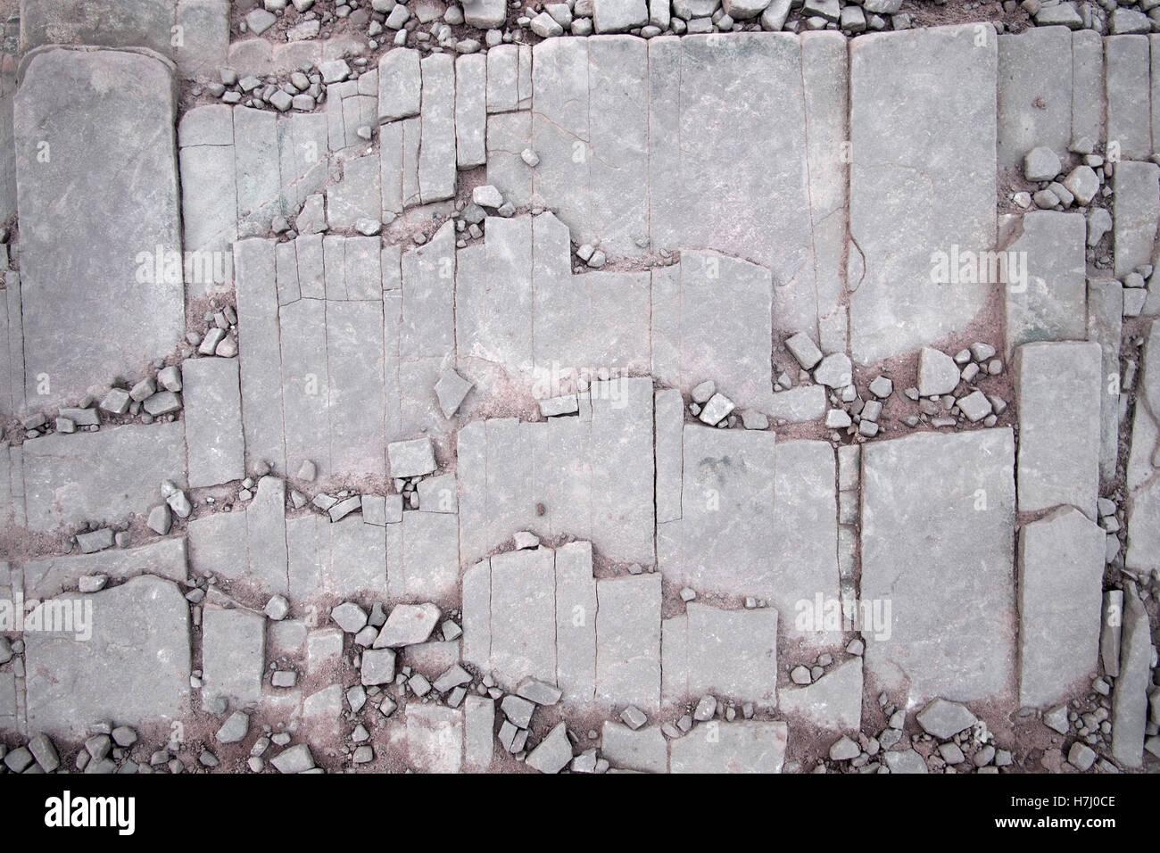 Patrones de piedra natural de roca en Brecon Beacons Gales UK Imagen De Stock