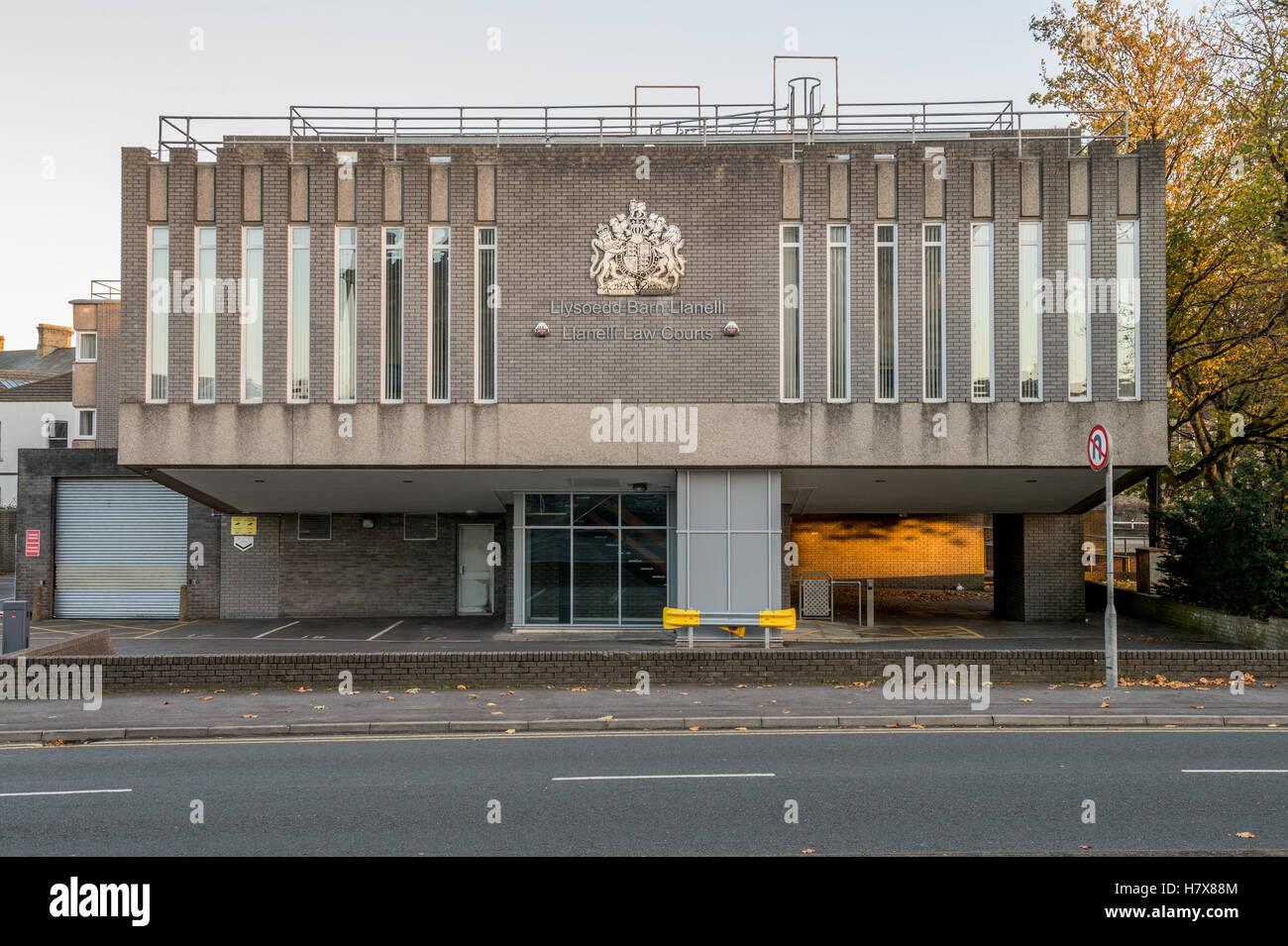 El exterior de llanelli tribunales Foto de stock