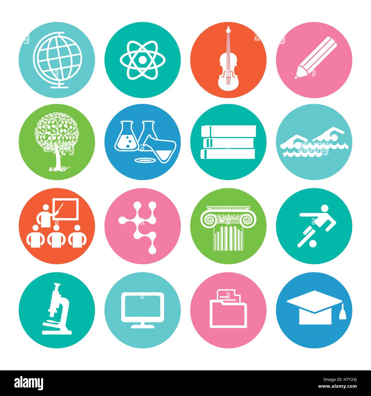 Educación y estudios icono Imagen De Stock