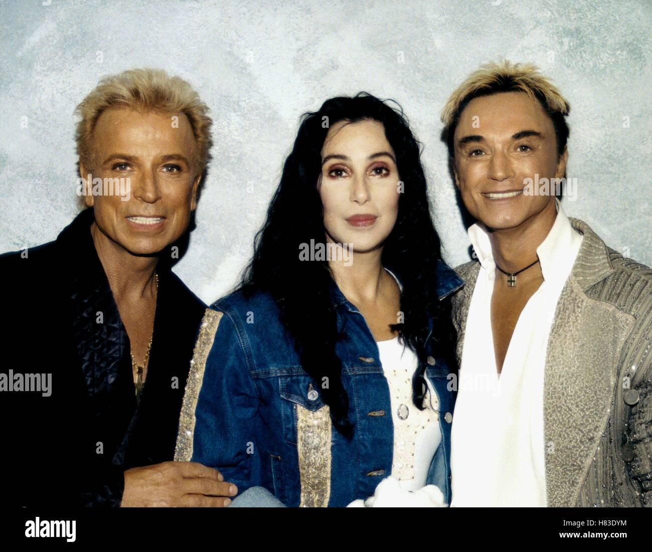 SEIGFRIED & ROY CON CHER 05 Septiembre 2001 Imagen De Stock