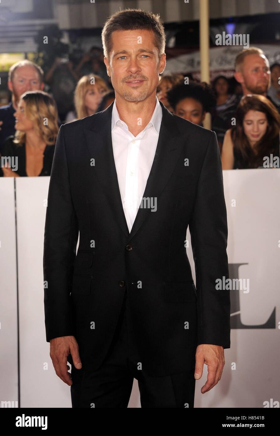 Los Angeles, California, EEUU. 9 nov, 2016. Brad Pitt en el Los Angeles estreno de 'aliados' celebrada en Imagen De Stock